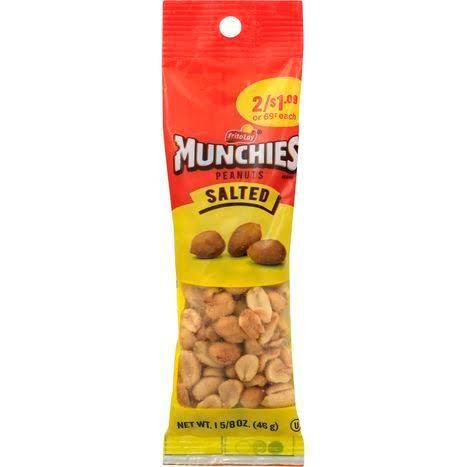 Munchies Peanuts, Salted - 1.625 oz
