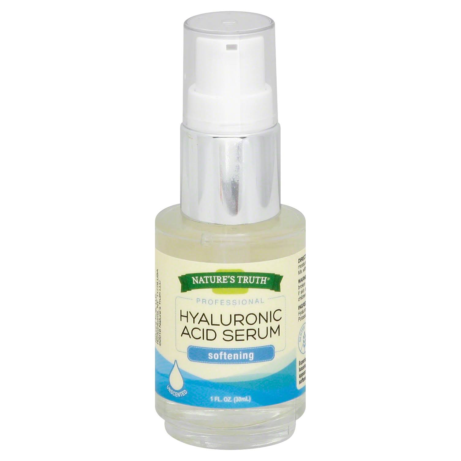 Natures Truth Professional Hyaluronic Acid Serum, Softening, Unscented - 1 fl oz