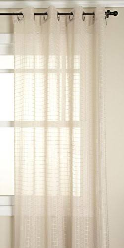 Stylemaster Montauk Grommet Sheer Curtain Panel Natural