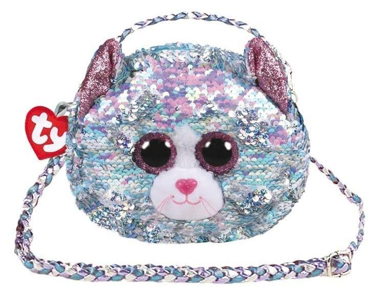 Ty Fashion Whimsy Cat Sequin Purse