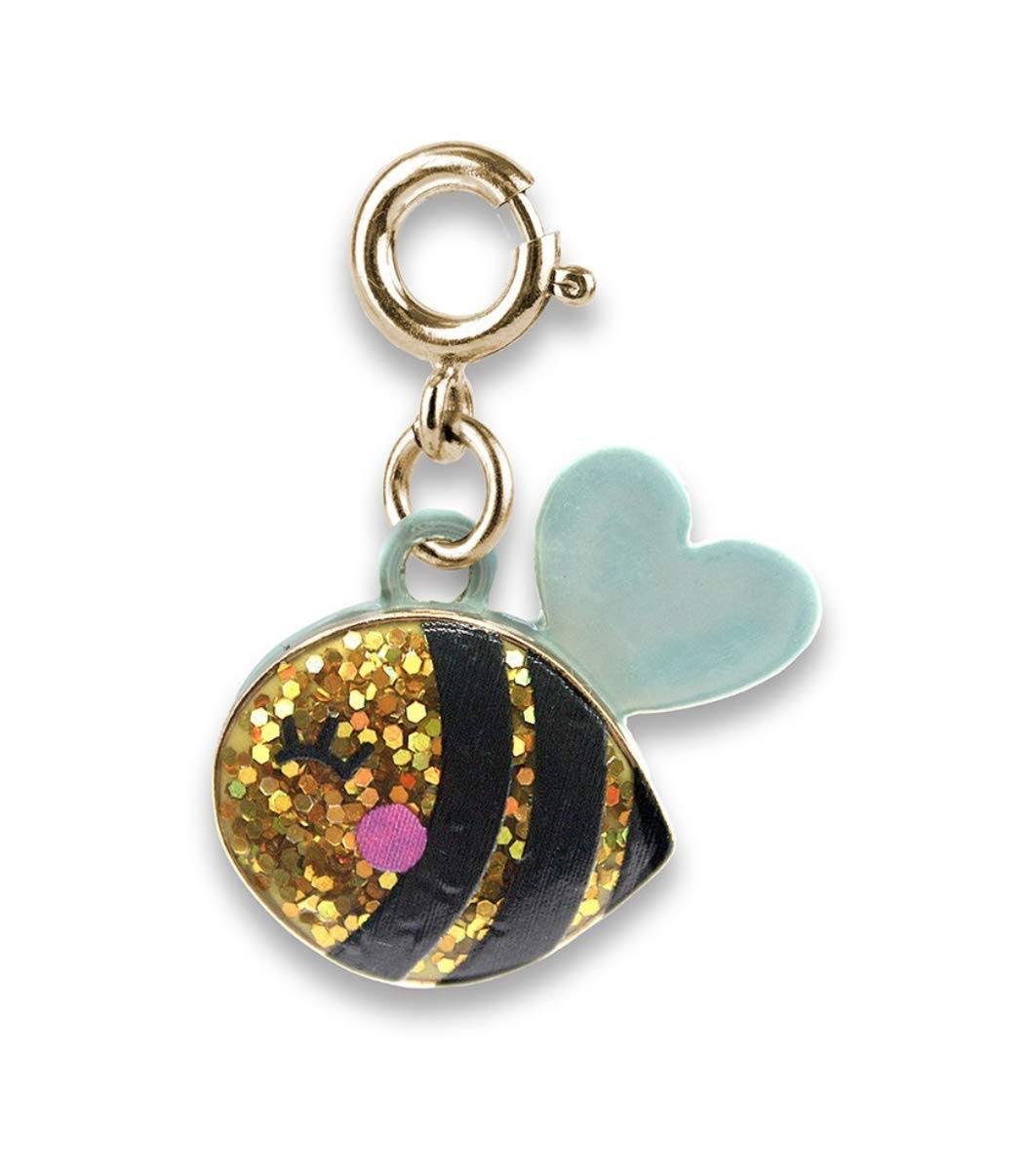 Charm It! Gold Glitter Bee