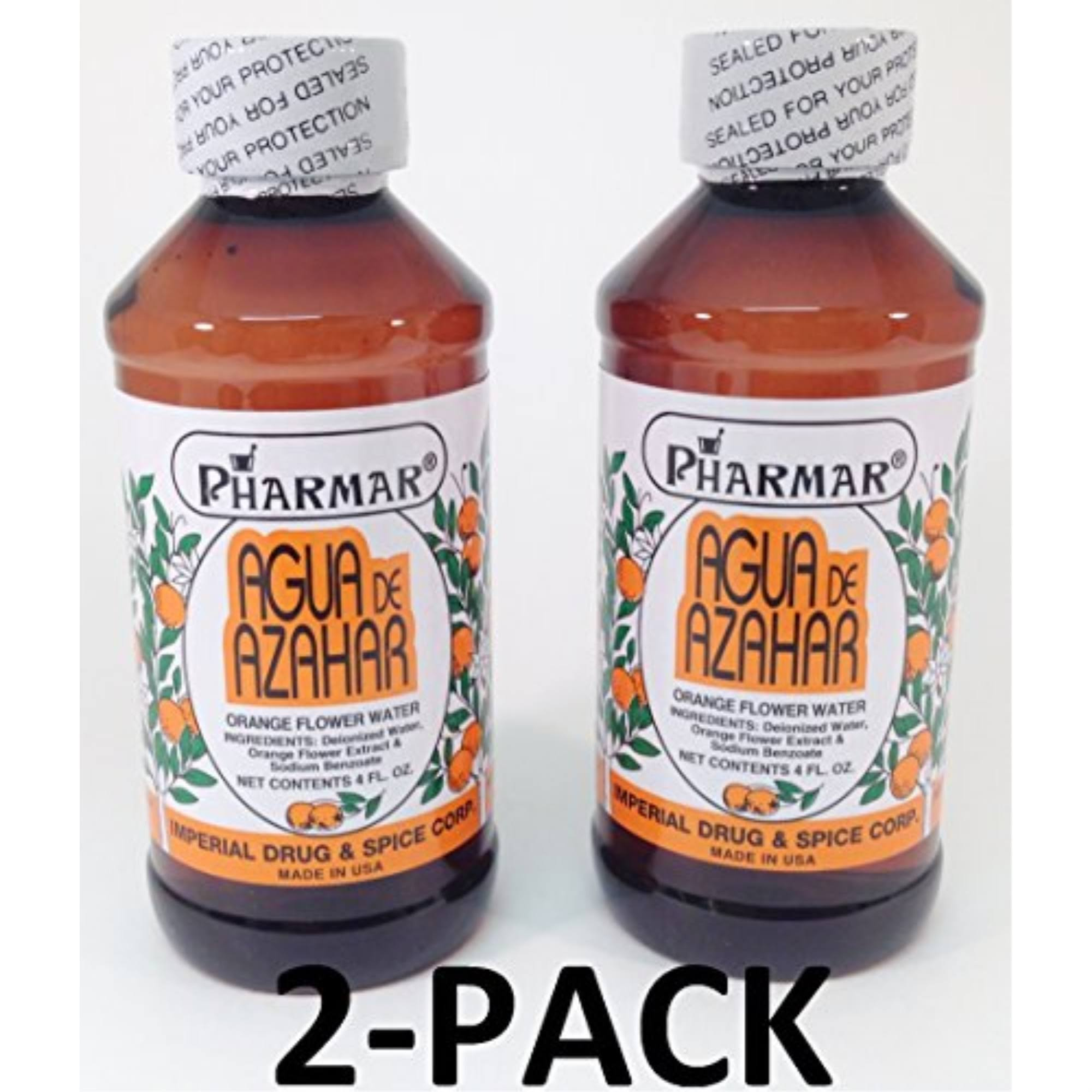 Pharmar Agua de Azahar Orange Flower Blossom Water Skin Care - 4oz, 2pk