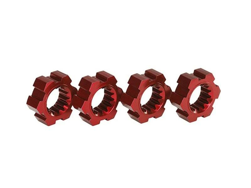 Traxxas Wheel Hex Hubs - Aluminum Red, 4pcs