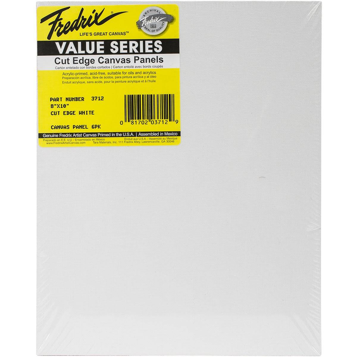 "Fredrix Cut Edge Canvas Panels - 8"" x 10"", 6pk"