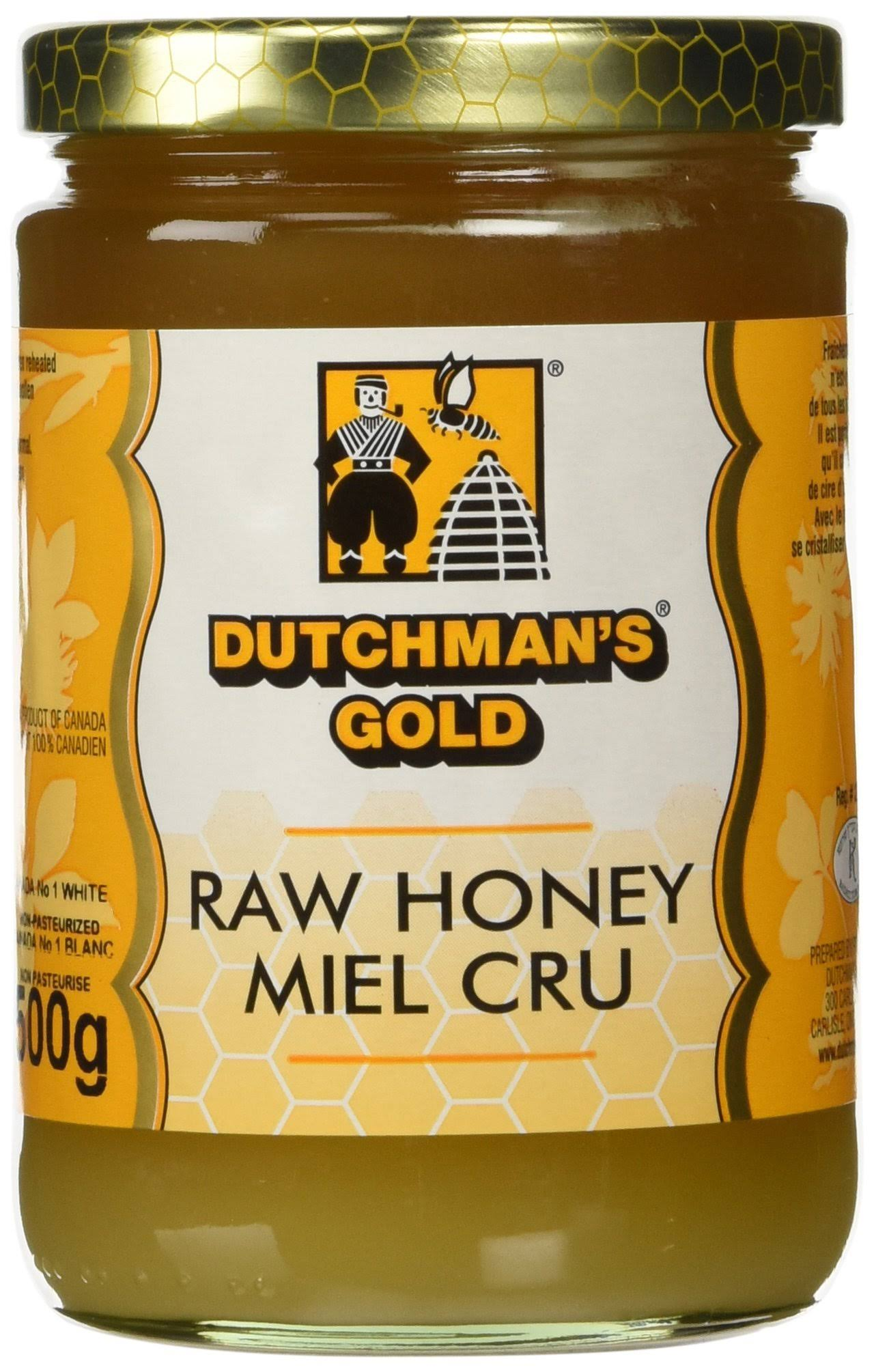 Dutchman's Gold Unfiltered Raw Honey - 1.1lbs