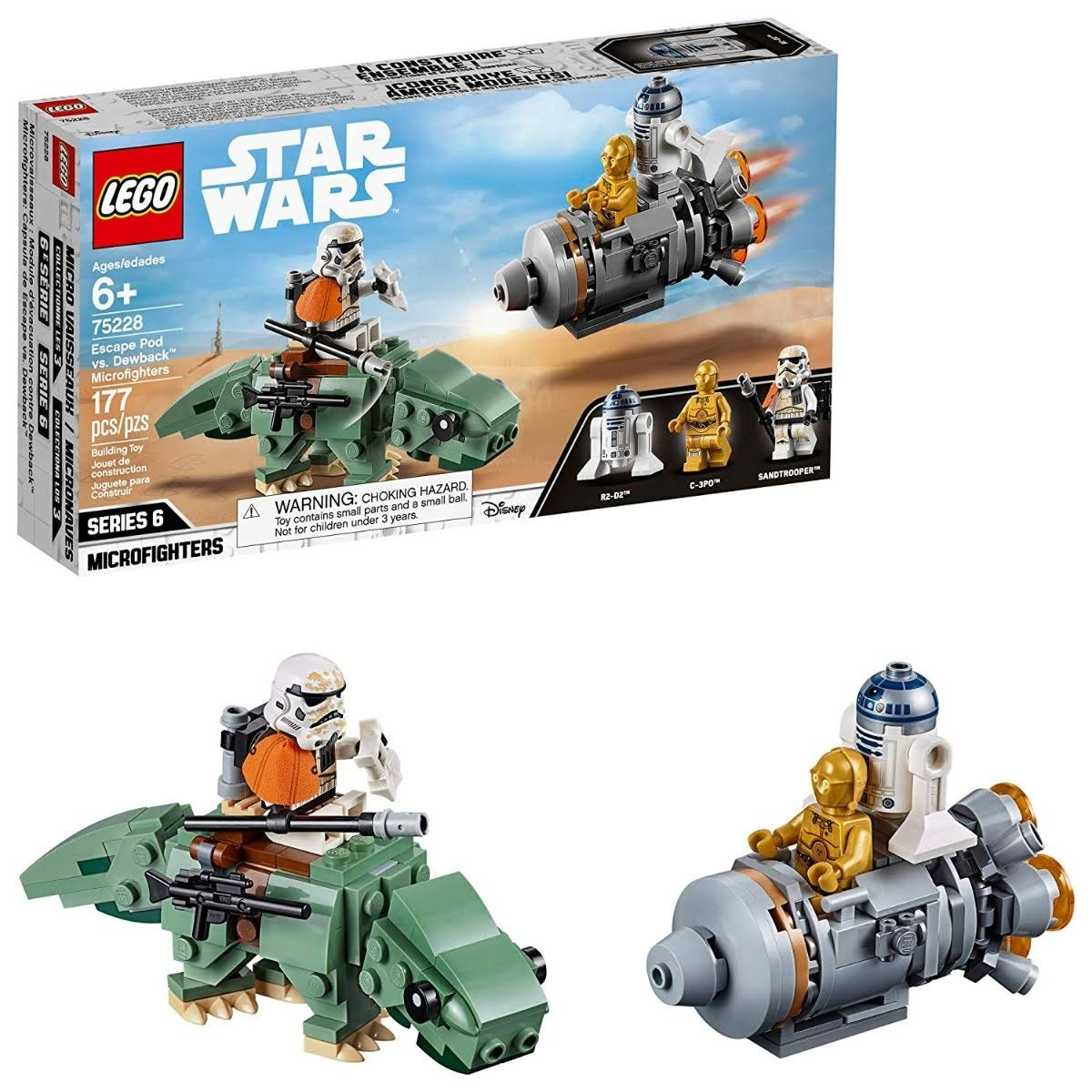 Lego Star Wars Escape Pod vs Dewback Microfighters Playset
