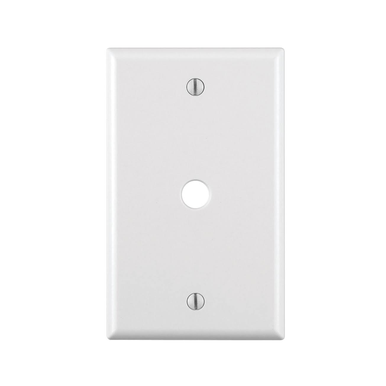 Leviton 1-Gang Phone/Cable Box Mount Wall Plate - White