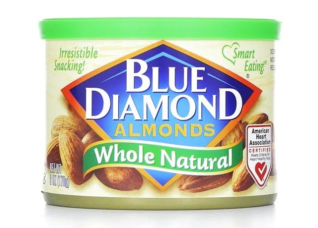 Blue Diamond Almonds - Whole Natural, 6oz