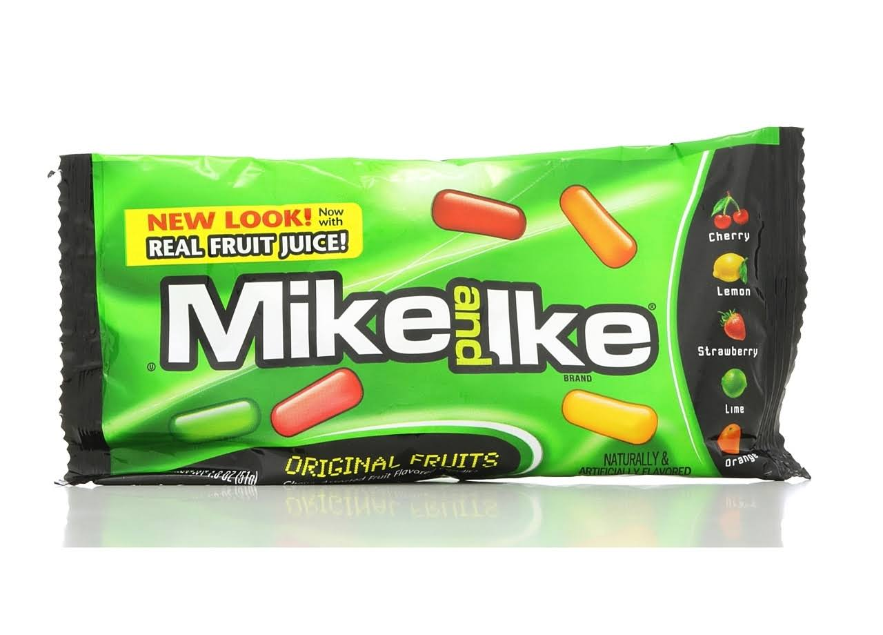 Mike and Ike Candy - Original Fruits, 51g