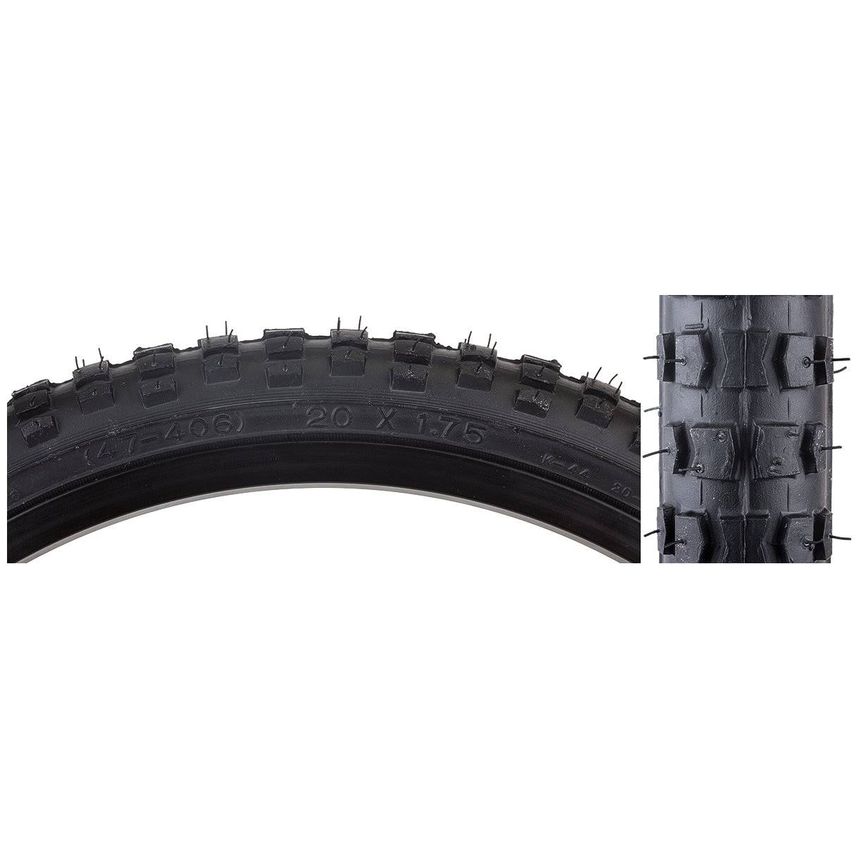 "Sunlite MX BMX Bike Tire - Black, 20"" x 1.75"""