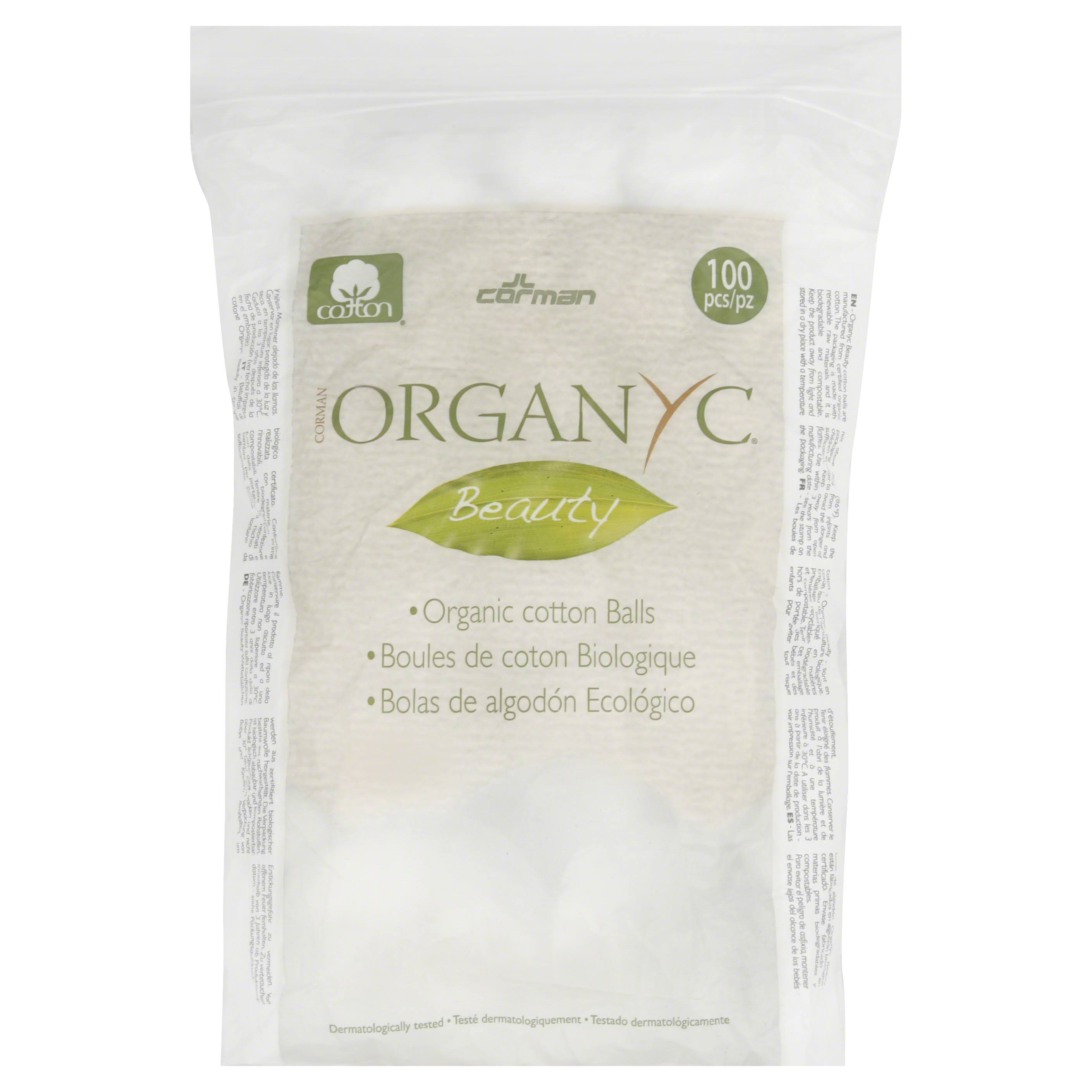 Organyc Beauty Cotton Balls, Organic - 100 pieces
