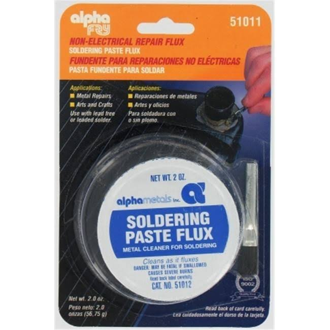 Alpha Metals Soldering Paste Flux and Brush, 2oz