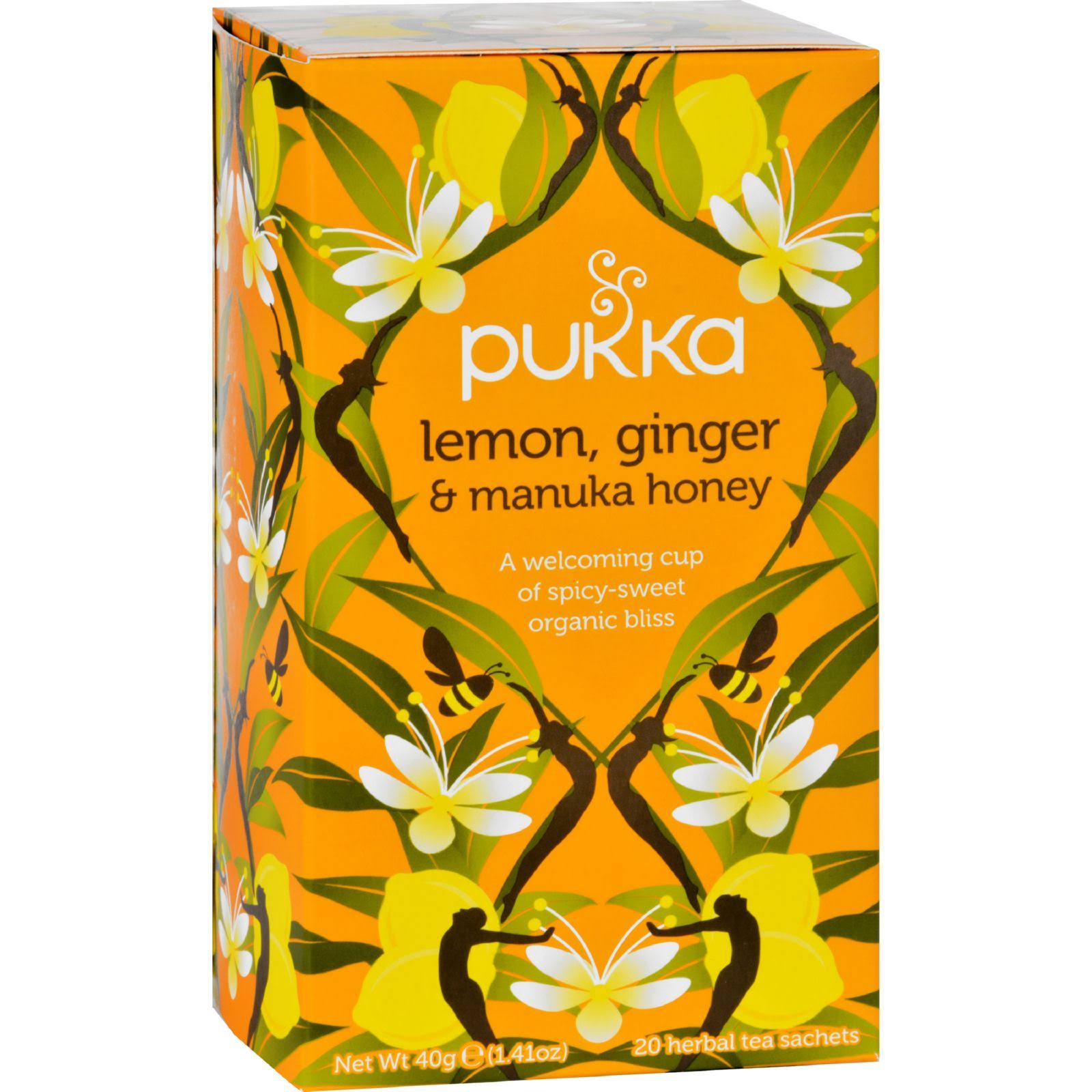 Pukka Organic Lemon Ginger and Manuka Honey Tea - 20 Sachets