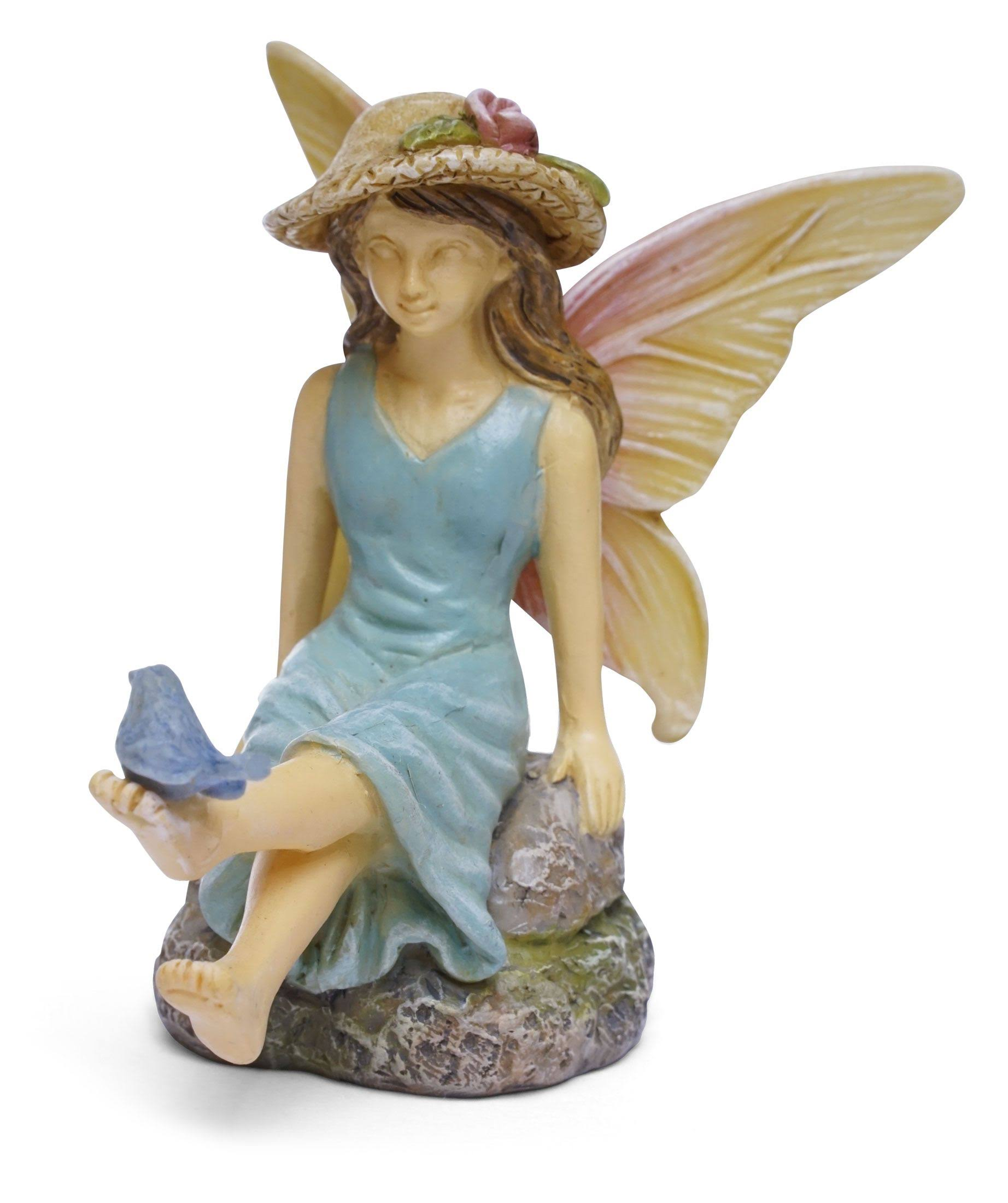 Miniature Fairy Perch for Miniature Garden, Fairy Garden, Blue