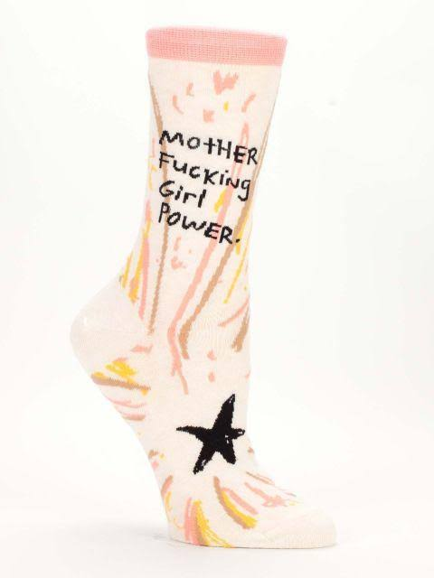 Blue Q Girl Power Women's Crew Socks - One Size