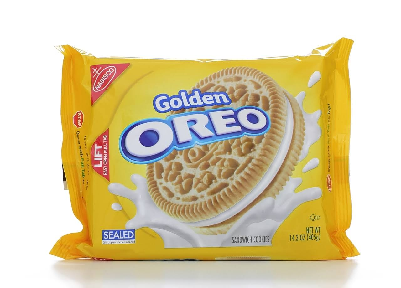 Nabisco Oreo Golden Sandwich Cookies - 14.3oz
