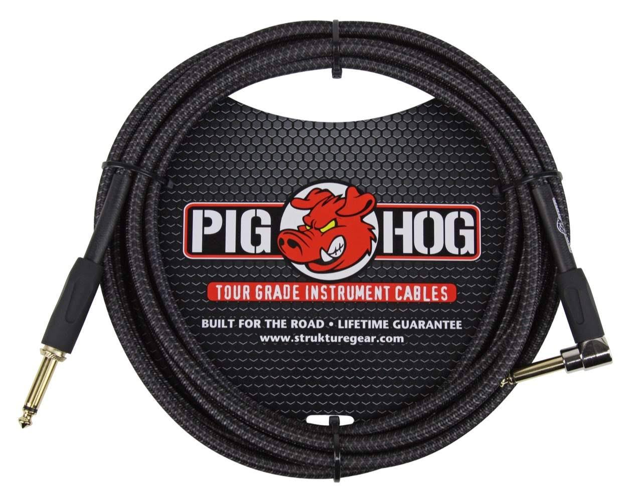 Pig Hog Instrument Cable - Black, Right Angle