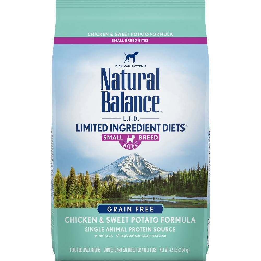 Natural Balance L.I.D. Limited Ingredient Diets Chicken & Sweet Potato Small Breed Bites Dog Food, 4.5 lbs.