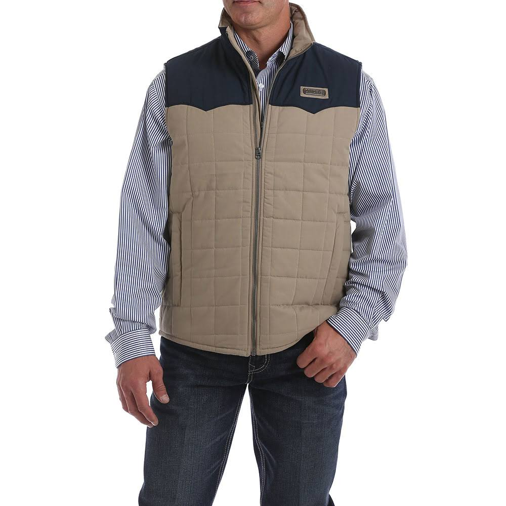Cinch Men's Multi Color Blocked Quilted Puffer Vest