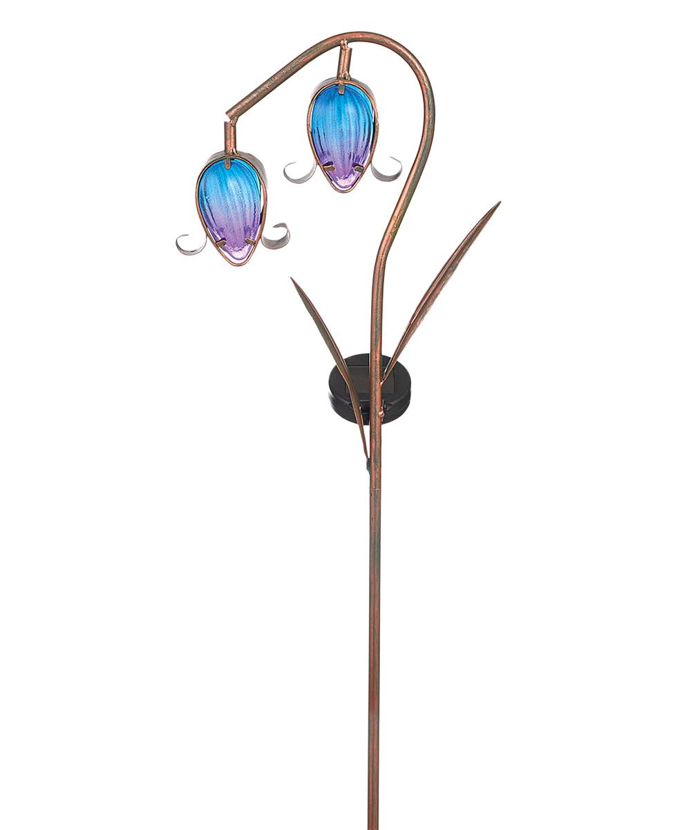 Grasslands Road Garden Stakes - Blue Bell Flower Solar-Powered Stake