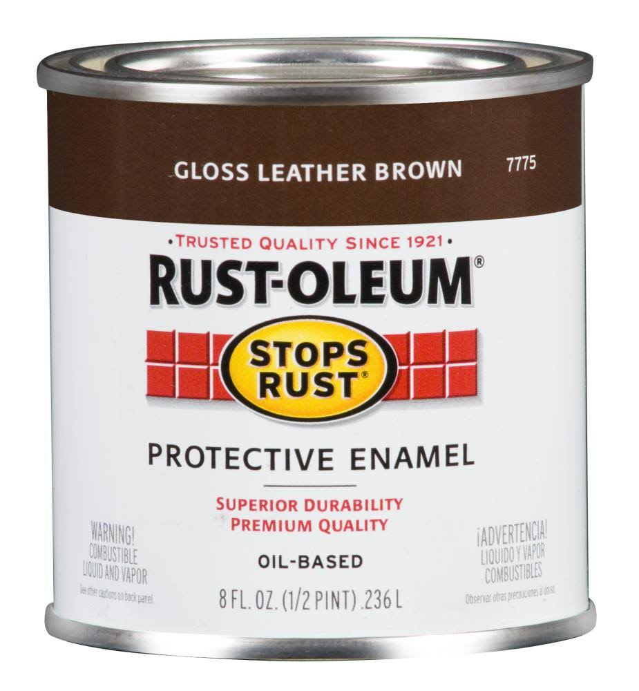 Rust-Oleum Stops Rust Oil-Based Protective Enamel - Gloss Leather Brown, 32oz