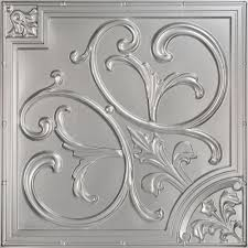 Tin Ceiling Tiles Home Depot by Silver Classic Pvc Ceiling Tiles Ceilings The Home Depot