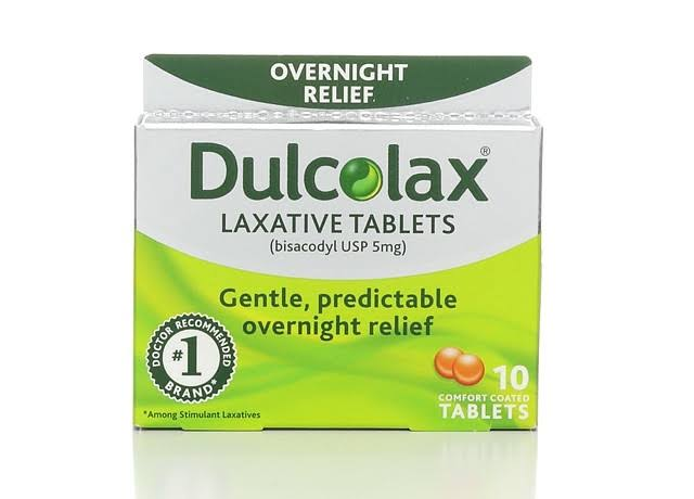 Dulcolax Laxative, Overnight Relief, 5 mg, Comfort Coated Tablets - 10 tablets