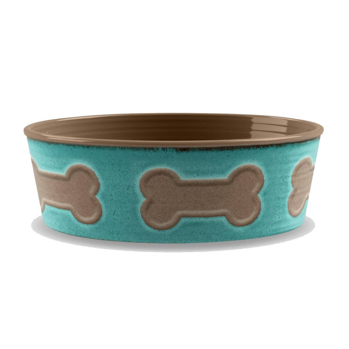 TarHong Bone Emboss Large Pet Bowl - Teal Blue