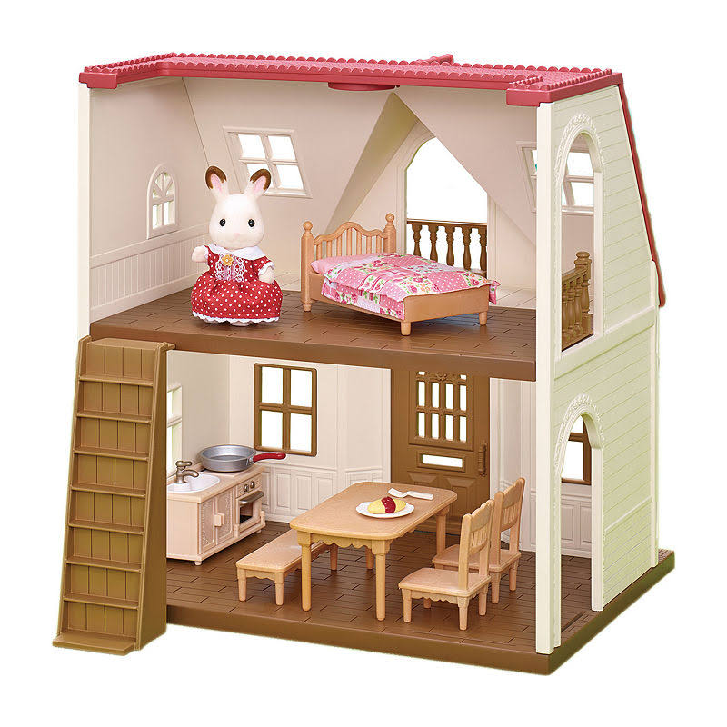 Calico Critters CC1798 Red Roof Cozy Cottage Starter Home Dollhouse Miniatures