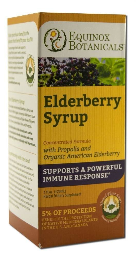 Equinox Botanicals Elderberry Syrup - 4oz