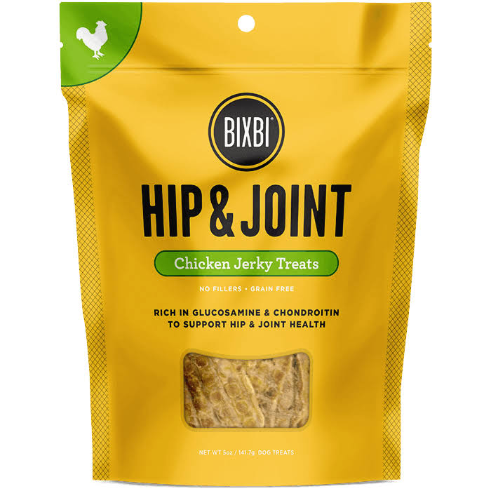 Bixbi USA Made Hip and Joint Dog Jerky Treats - 5oz, Chicken