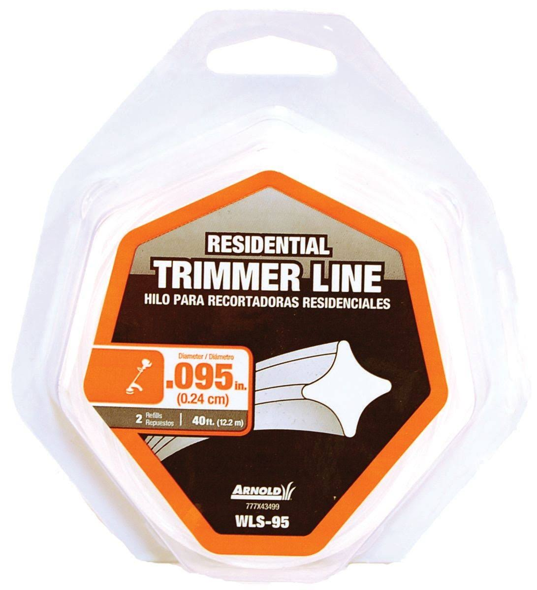 Arnold Residential Trimmer Line - 0.095in x 40ft