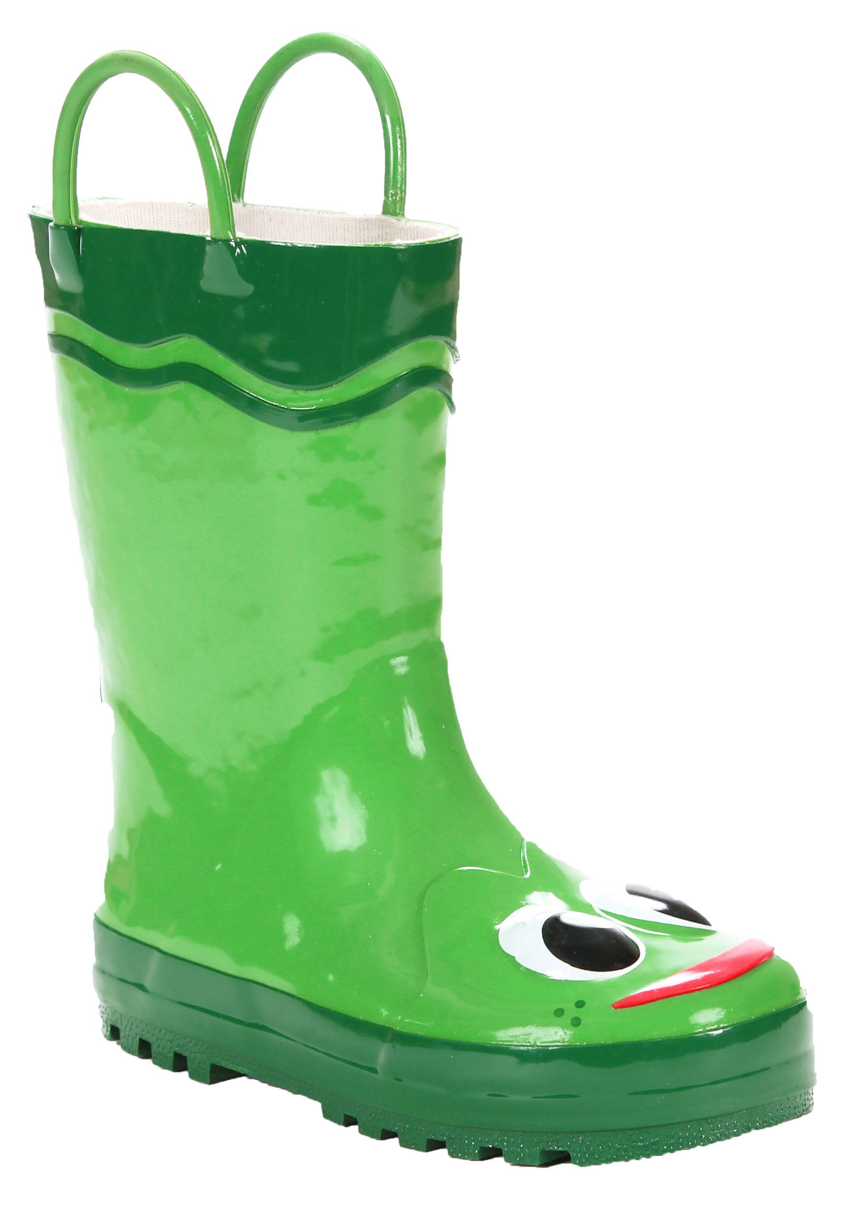 Western Chief Toddler Boys Frog Rain Boots - Green 11