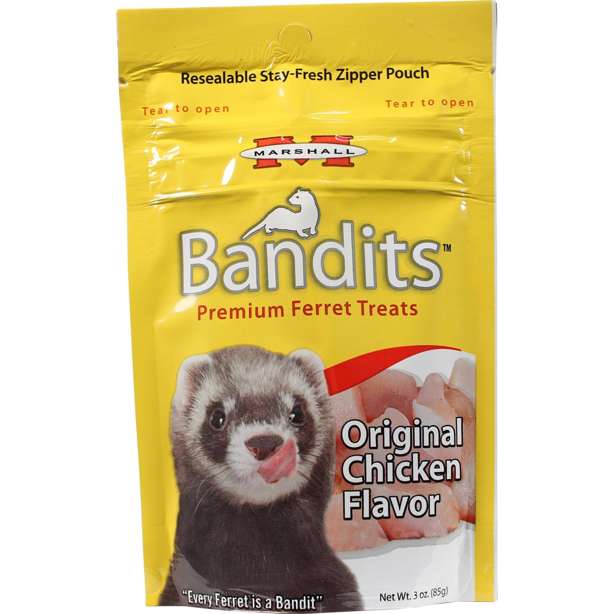 Marshall Pet Bandits Premium Ferret Treat - 3oz, Chicken