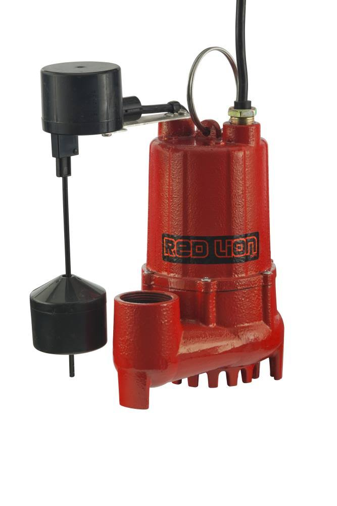 Red Lion Cast Iron Sump Pump - 1/3 HP