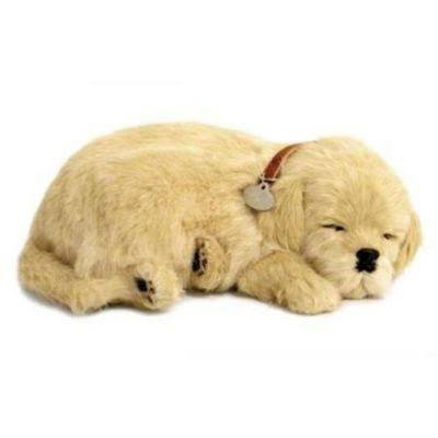 Perfect Petzzz Soft Golden Retriever Toy - The Original Breathing Pet