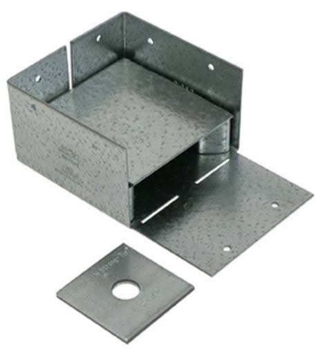 "Simpson Strong-Tie Galvanized Adjustable Post Base - 4"" x 4"""