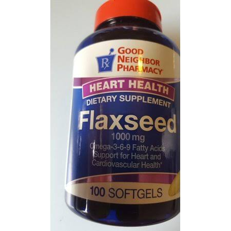 GNP Flaxseed 1000 mg 100 Softgels