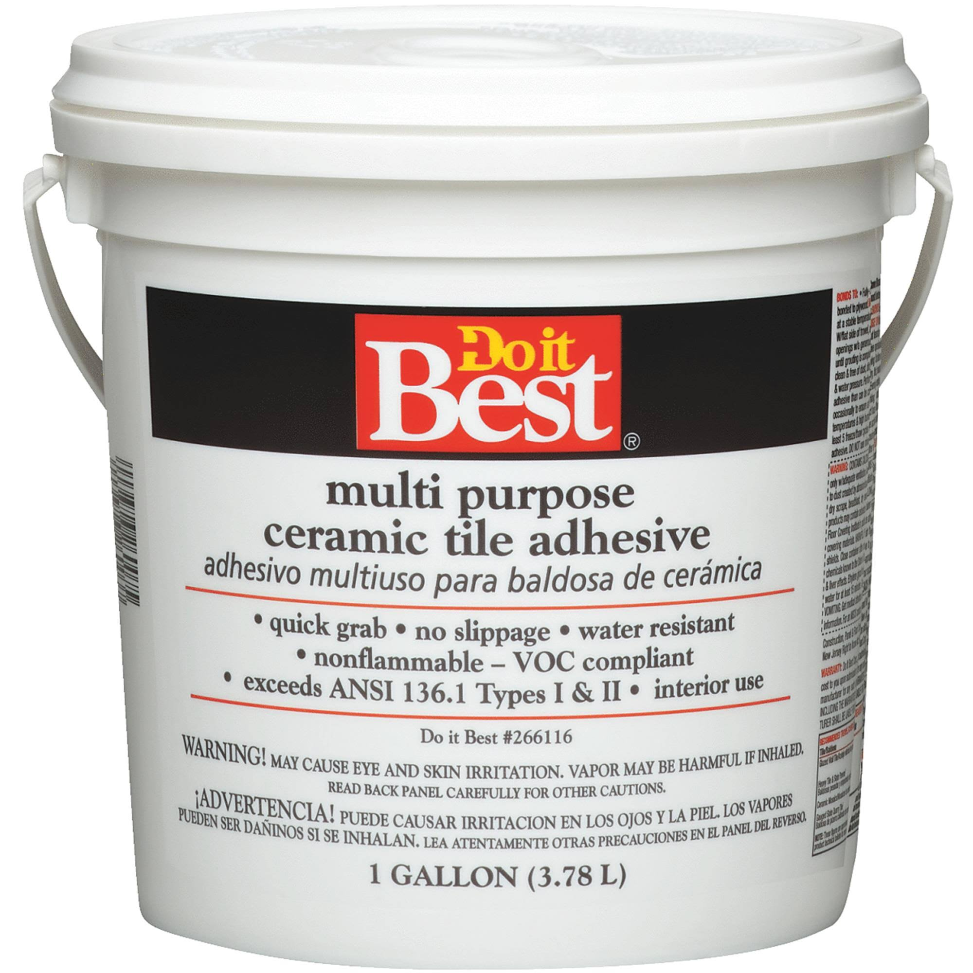 Do It Best Multi Purpose Ceramic Tile Adhesive - 1 Gallon