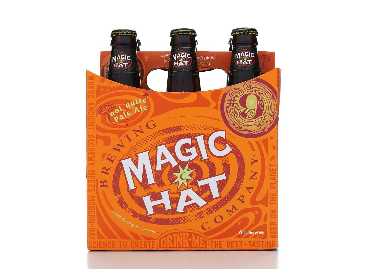 Magic Hat Pale Ale Beer Bottles