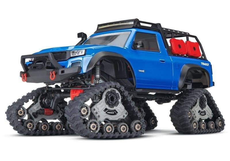 Traxxas TRA820344BLUE Trx-4 Traxx Trail RC Model - Blue, Scale 1:10