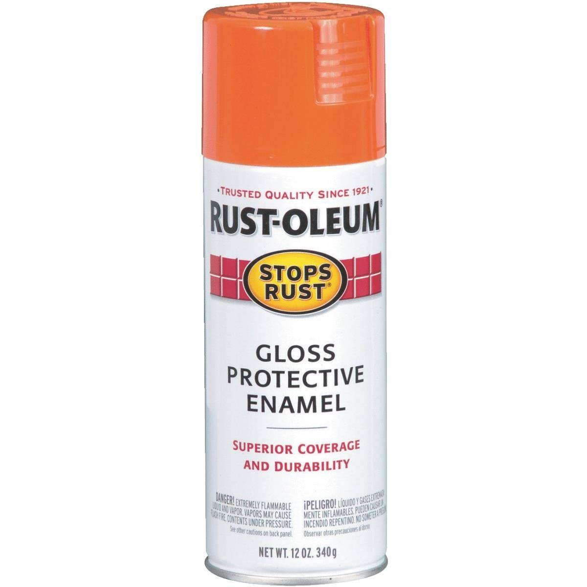 Rust-Oleum Stops Rust Orange Gloss Protective Enamel