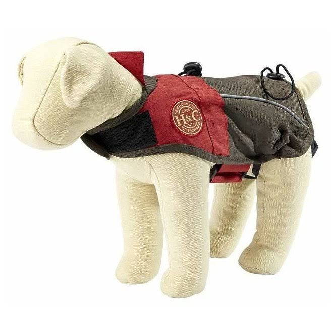 Henry and Clemmies All Weather Dog Jacket Water Resistant Pet Coat - Red, X-Small