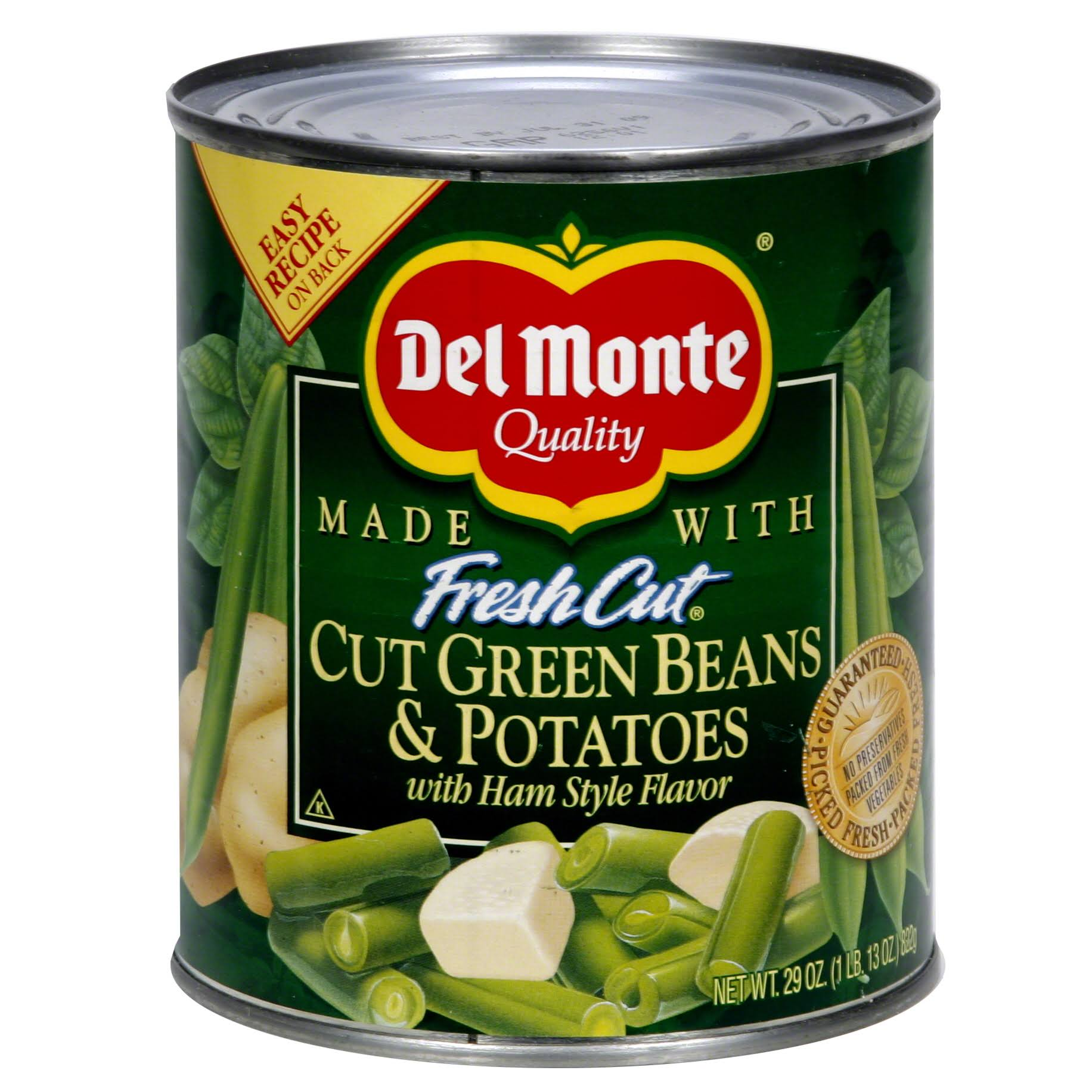 Del Monte Blue Lake Cut Green Beans and Potatoes - with Ham Style Flavor, 29oz