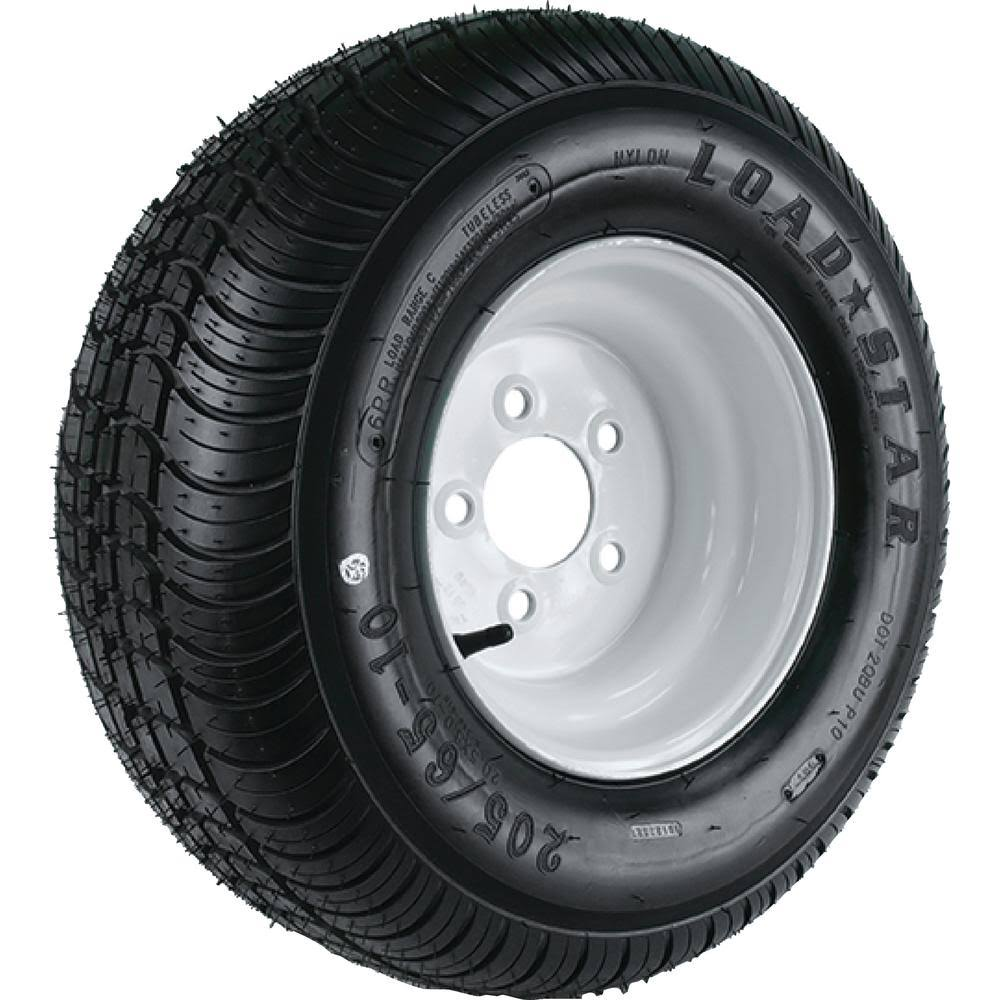 Loadstar 3H310; 215/60-8 C/5H White K399 Tire & Wheel