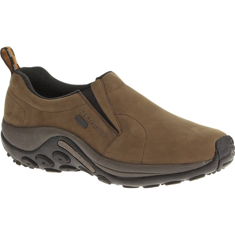 Merrell Men's Jungle Moc Nubuck Waterproof Slip On Shoes - Brown, 14 US