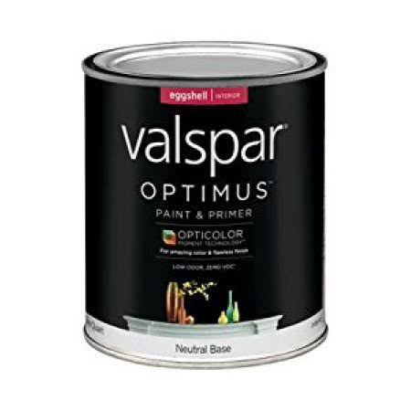 Valspar Optimus Paint & Primer - Interior, Eggshell, Neutral Base, 1qt