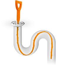 Bathtub Drain Clog Remover by Igadgitz Home Orange Flexible Drain Snake Stick Hair Clog Food
