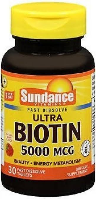 Sundance Ultra Biotin Dietary Supplement - 5000mcg, 30ct