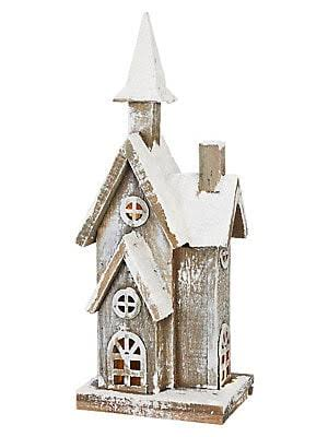 "Raz Imports Christmas in The Country 15"" Lighted House"